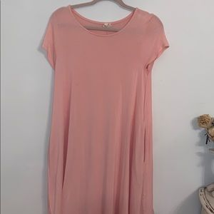 Pink boutique dress with pockets